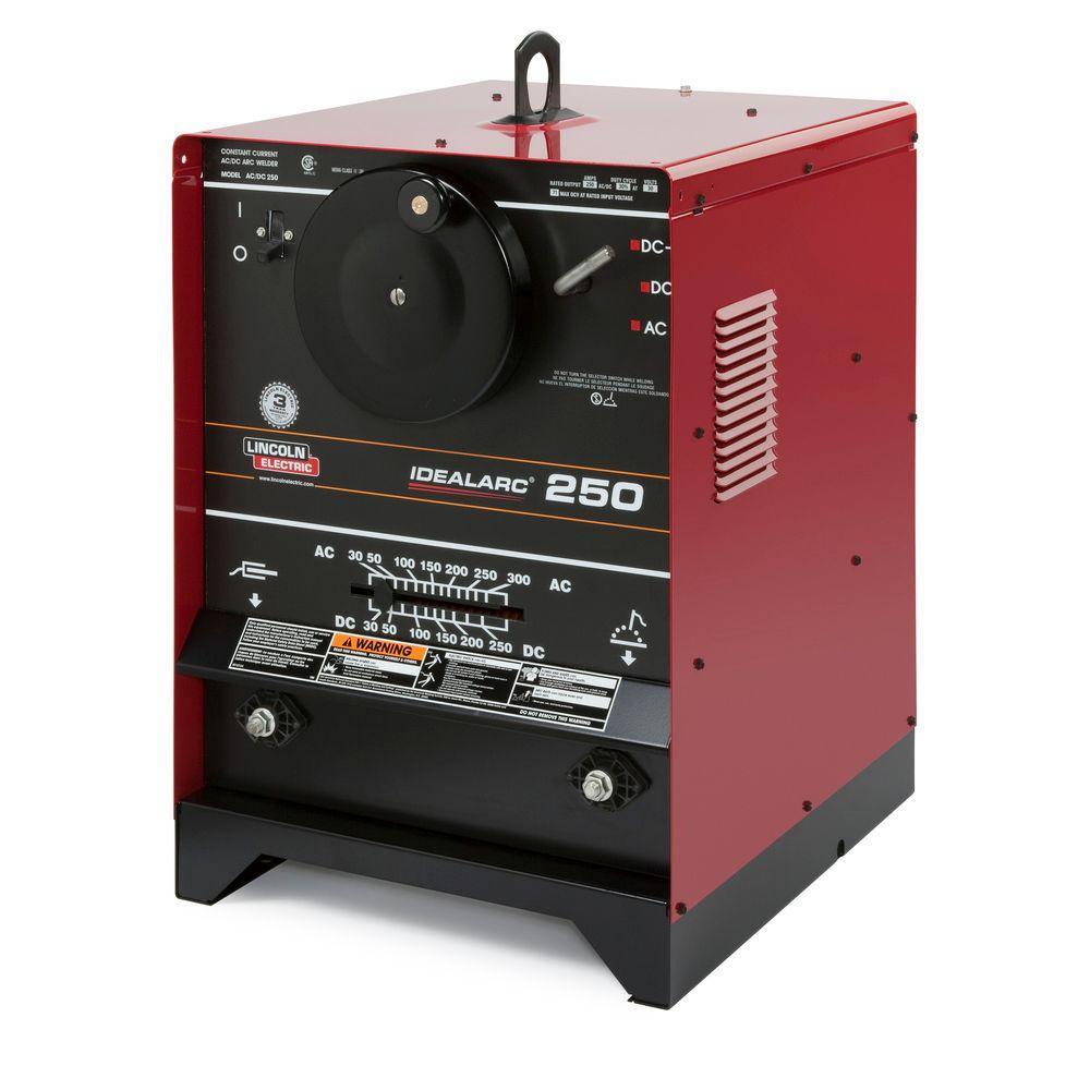 300 Amp AC and 250 Amp DC Idealarc 250 Stick Welder with Power Factor Capacitors, Single Phase, 208V/230V/460V