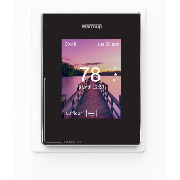 Onyx Black Smart Wi-Fi Thermostat for Underfloor Heating System
