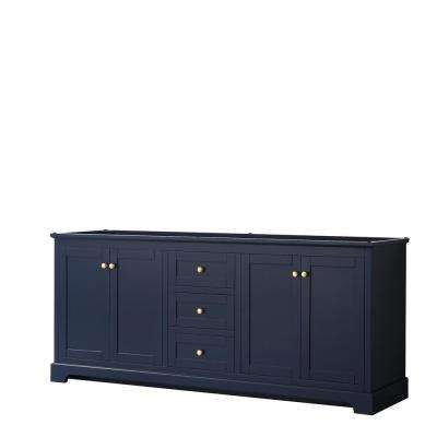 Avery 79 in. W x 21.75 in. D Bathroom Vanity Cabinet Only in Dark Blue