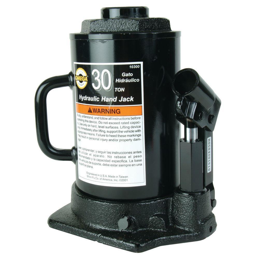 Omega 30 Ton Hydraulic Side Pump Bottle Jack 10300 The
