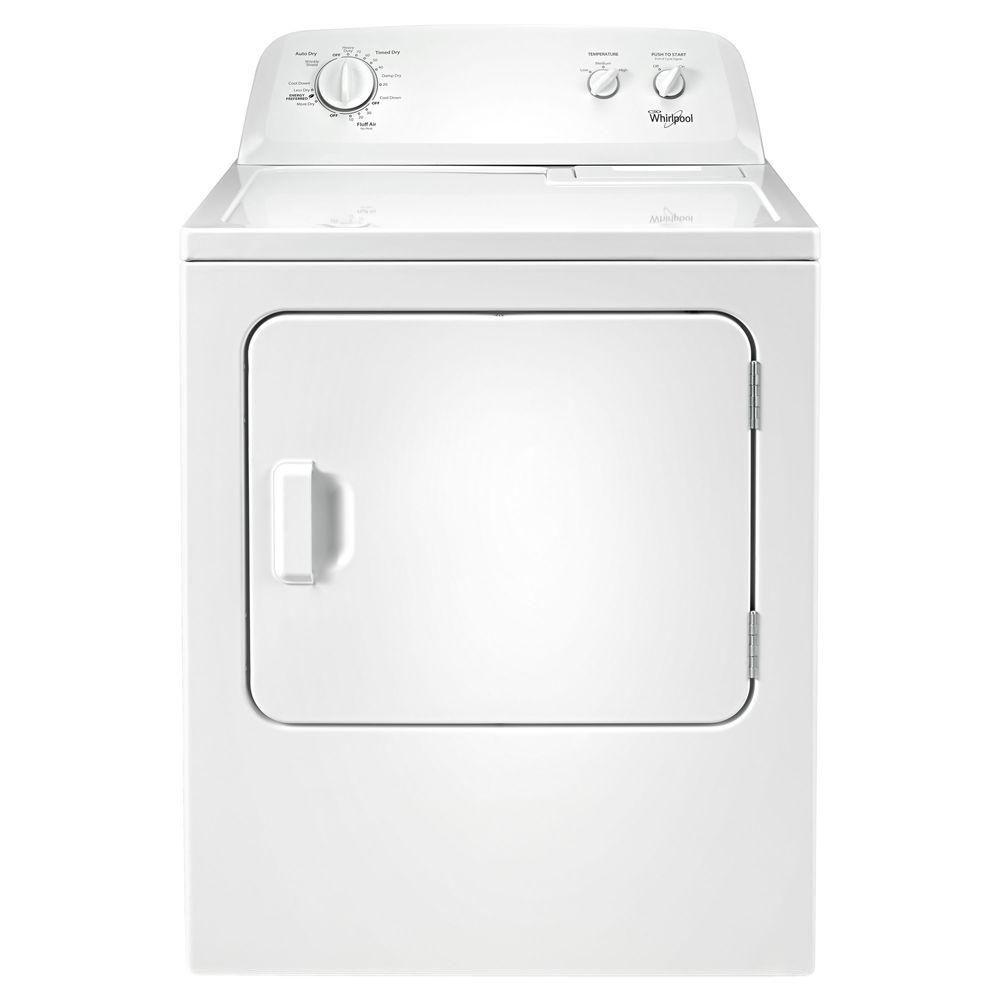 Whirlpool 7.0 cu. ft. 240-Volt White Electric Vented Dryer with Wrinkle Shield