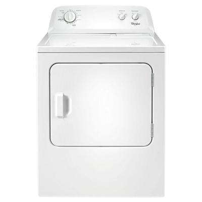 7.0 cu. ft. 240-Volt White Electric Vented Dryer with Wrinkle Shield