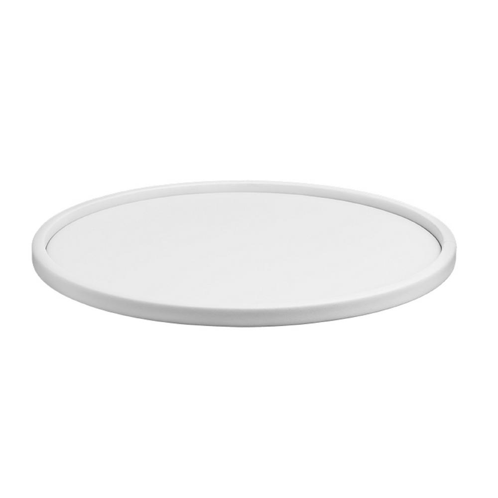 Contempo 14 in. Round Serving Tray in White