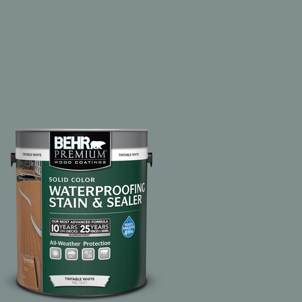 BEHR Premium 1 gal. #SC-125 Stonehedge Solid Color Waterproofing Exterior Wood Stain and Sealer
