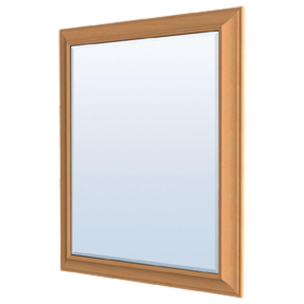 MasterBath 36 in. L x 30 in. W Wall Mirror in Cinnamon