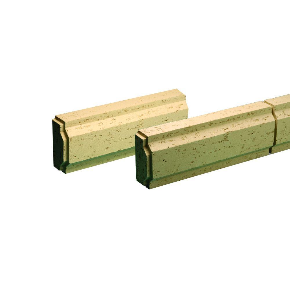 Fypon 8-31/32 in. x 24 in. x 3-7/8 in. Polyurethane Stone Texture Decorative Block