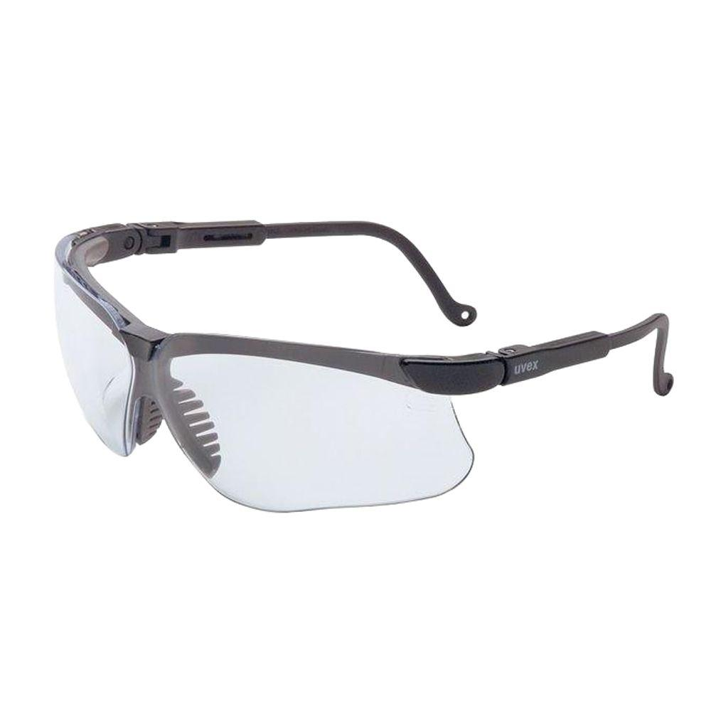 Uvex Genesis Safety Glasses with Clear Tint Uvextreme Lens and Black Frame