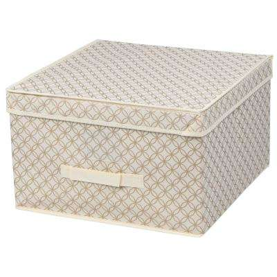 10 in. x 16 in. Jumbo Blossom Storage Organizer 1-Cube in Gold