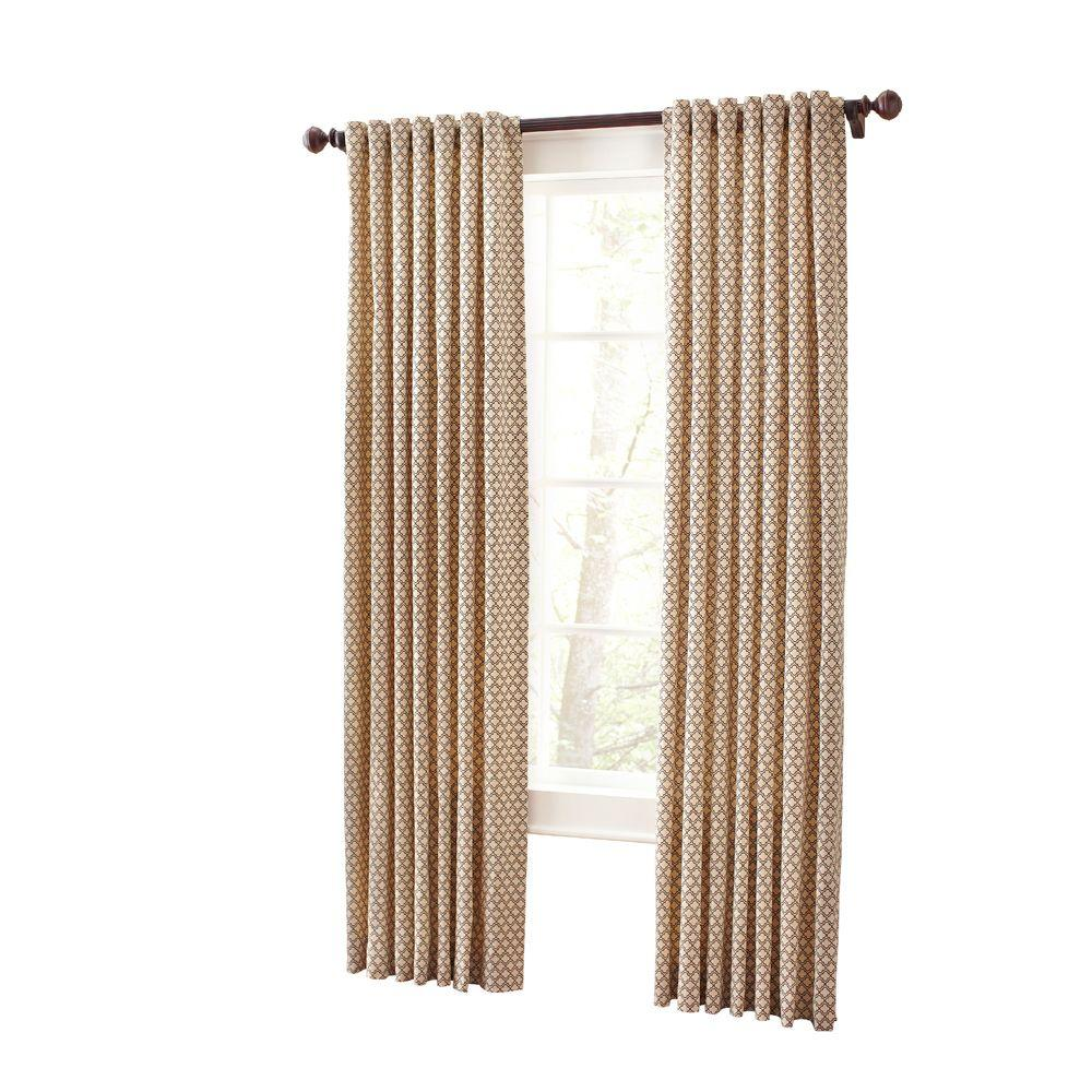 Martha Stewart Living Hickory Moroccan Geo Back Tab Curtain (Price Varies  By Size)