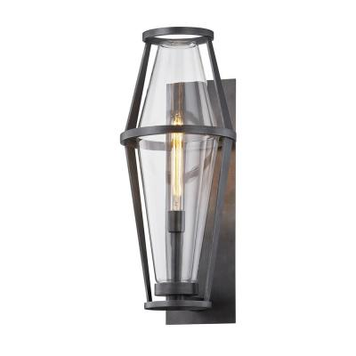 Prospect 26.25 in. Graphite 1-Light Wall Sconce with Clear Glass Shade
