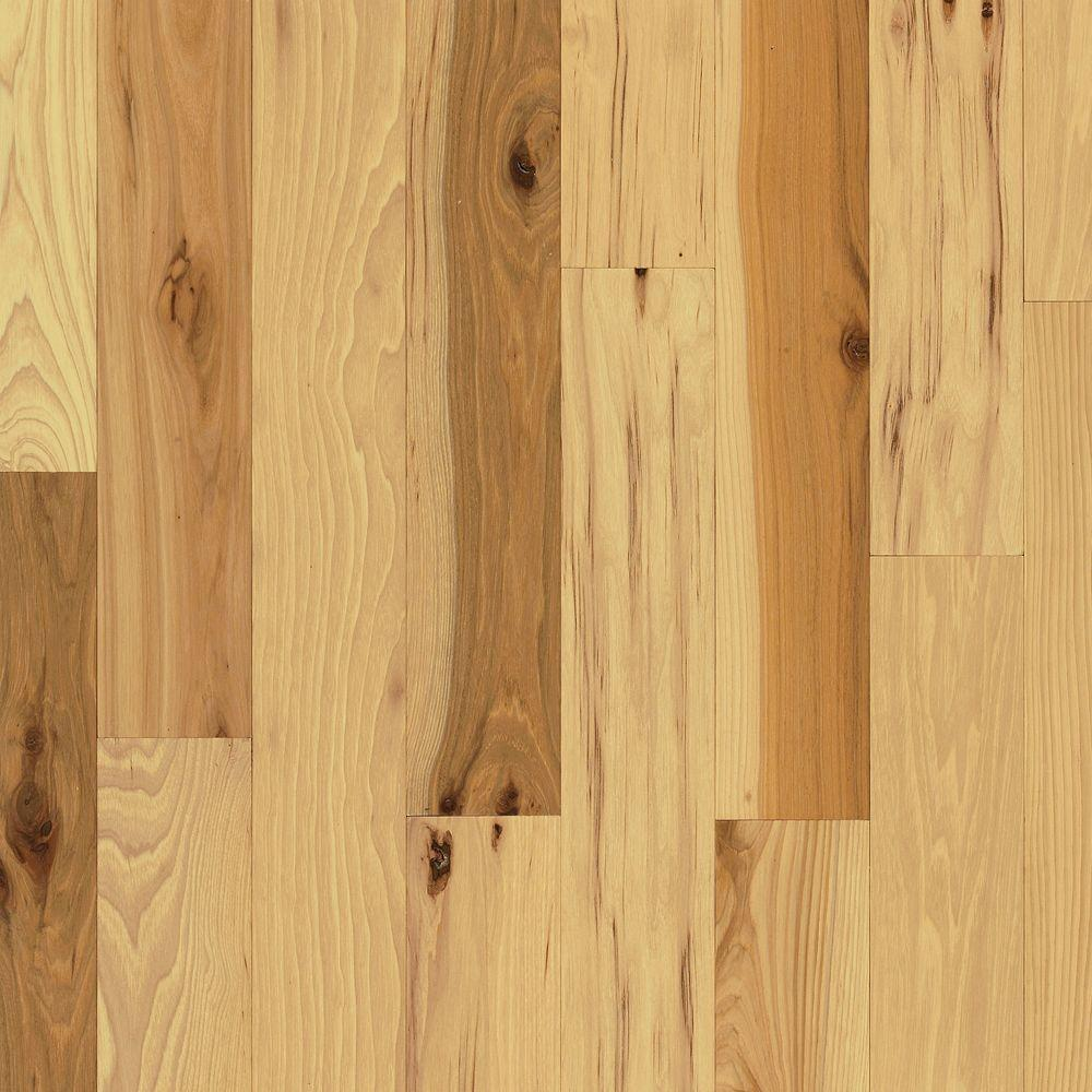Bruce Rustic Hickory Natural 3/4 in. Thick x 5 in. Wide x Varying Length  Solid Hardwood Flooring (23.5 sq. ft. / case)-SHD5110 - The Home Depot