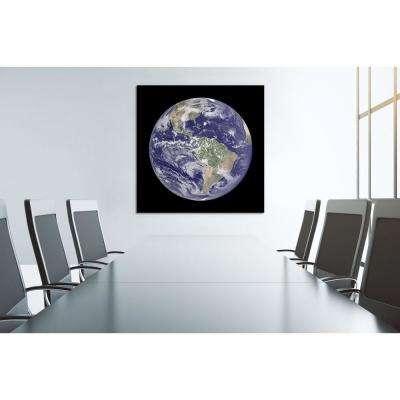 """40 in. x 40 in. """"Terra"""" Frameless Free Floating Tempered Glass Panel Graphic Art"""
