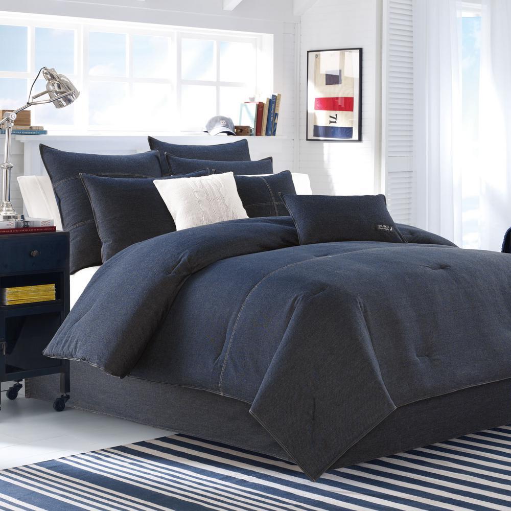 Seaward Cotton 3-Piece King Comforter Set