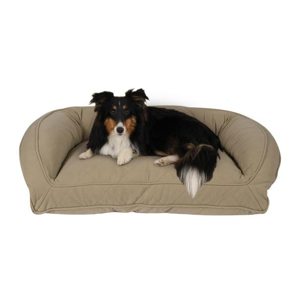 Large/X-Large Sage Quilted Microfiber Bolster Bed