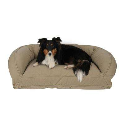 Large/X-Large Sage Memory Foam Quilted Microfiber Bolster Bed