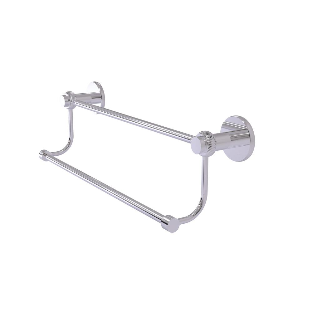Mercury Collection 18 in. Double Towel Bar with Twisted Accent in