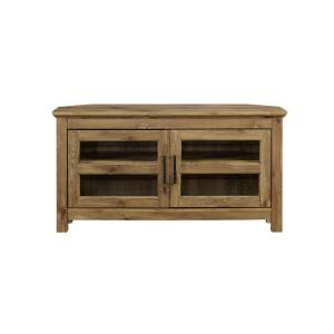 44 in. Wood Corner TV Media Stand Storage Console - Barnwood