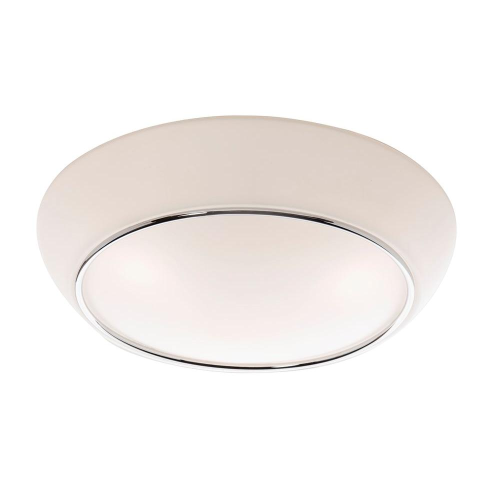 ARTCRAFT Sova 1-Light Chrome Flush Mount A new flush mount collection, that is fresh and clean looking. Circular in shape with embossed circular designs