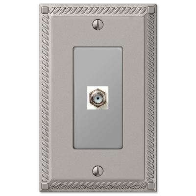 Georgian 1 Coax Wall Plate - Nickel
