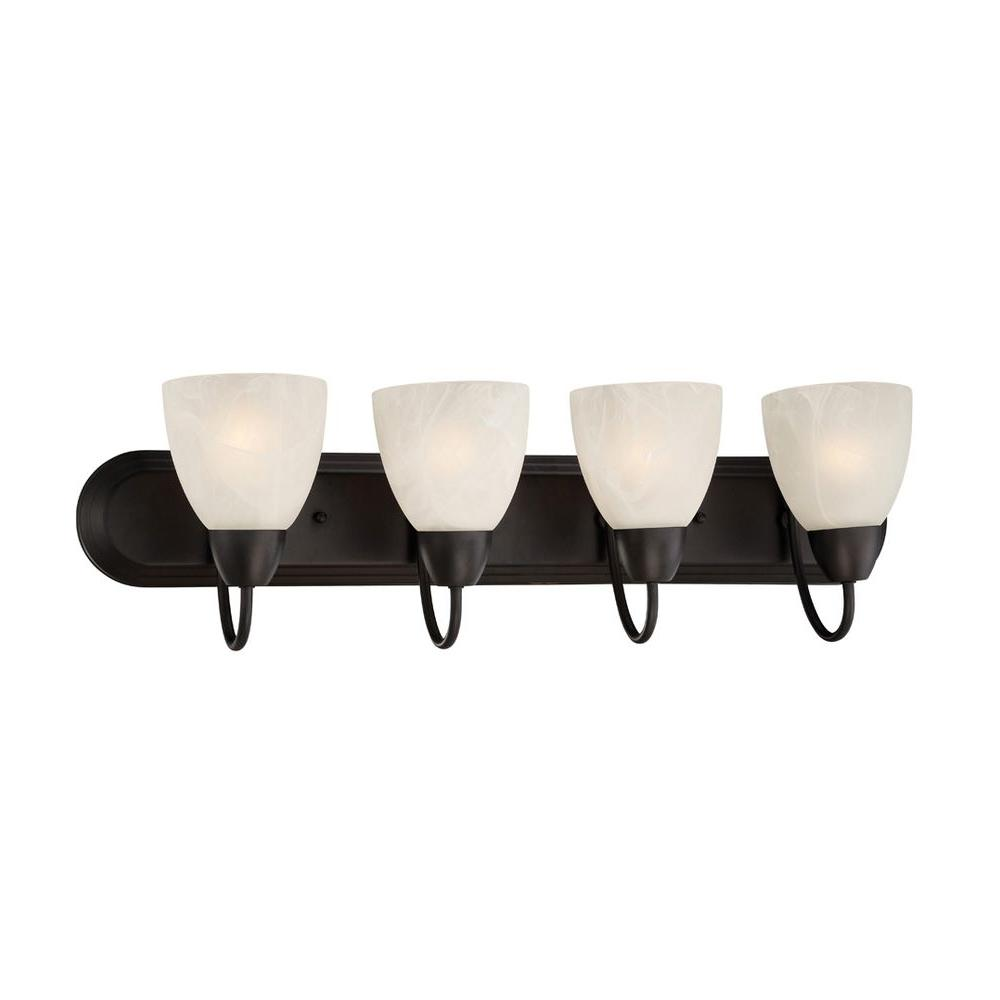Torino 4-Light Oil Rubbed Bronze Bath Bar Light