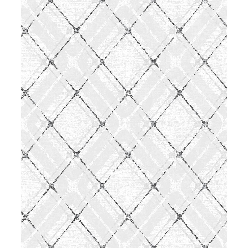 Hadley Grey Argyle Wallpaper Sample
