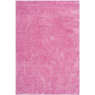 California Shag Pink 5 ft. x 8 ft. Area Rug
