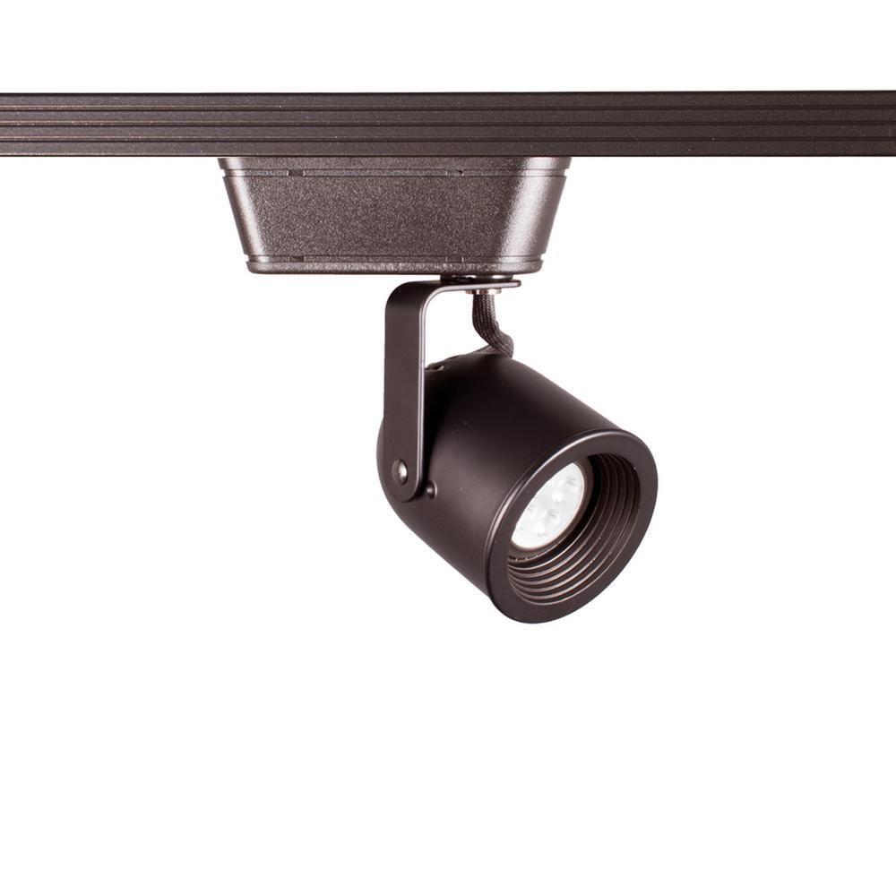 HT-808 1-Light Dark Bronze LED Low Voltage Track Head with 8-Watt Bulb 50-Watt Max for H Track