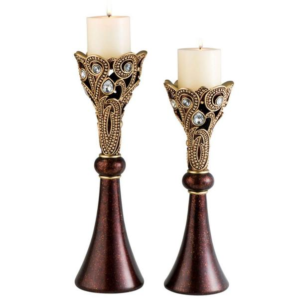 16 in. H Moselle Candle Holder (Set of 2)