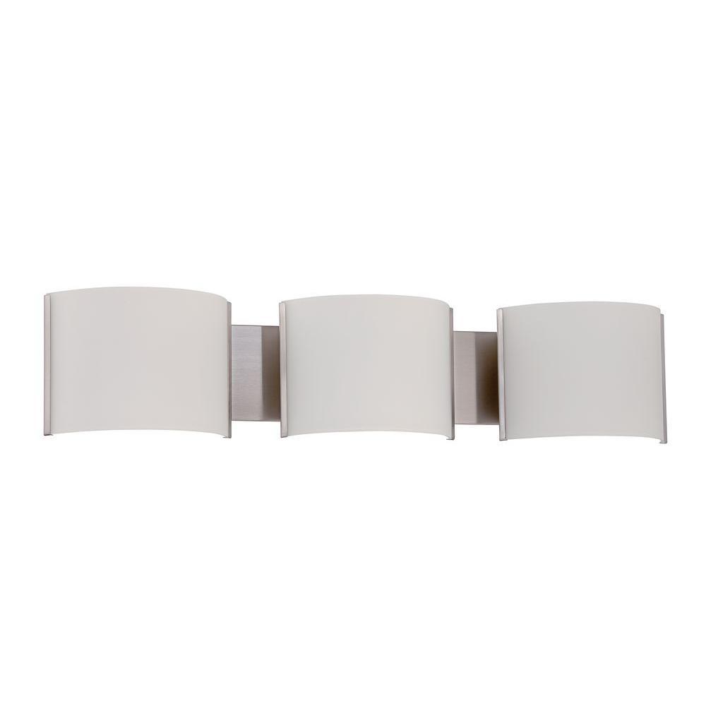 Vanity Lights Too Bright : Luminance Boca 3-Light Bright Satin Nickel Vanity Light-F2537-80 - The Home Depot