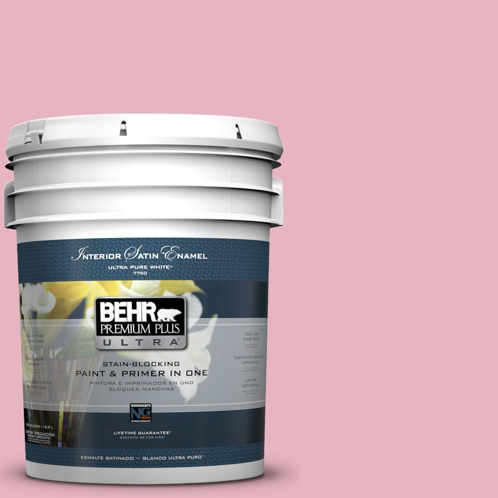 BEHR Premium Plus Ultra 5-gal. #M140-3 Premium Pink Satin Enamel Interior Paint