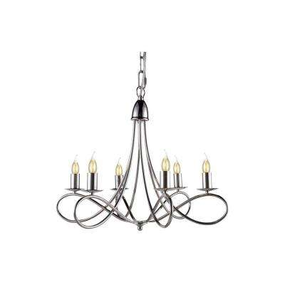 Lyndon 6-Light Polished Nickel Pendant Lamp