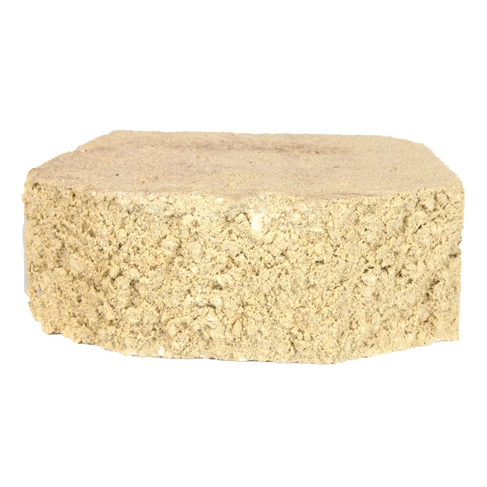 Oldcastle 3 in. x 8.25 in. x 5.5 in. Sand Concrete Retaining Wall ...