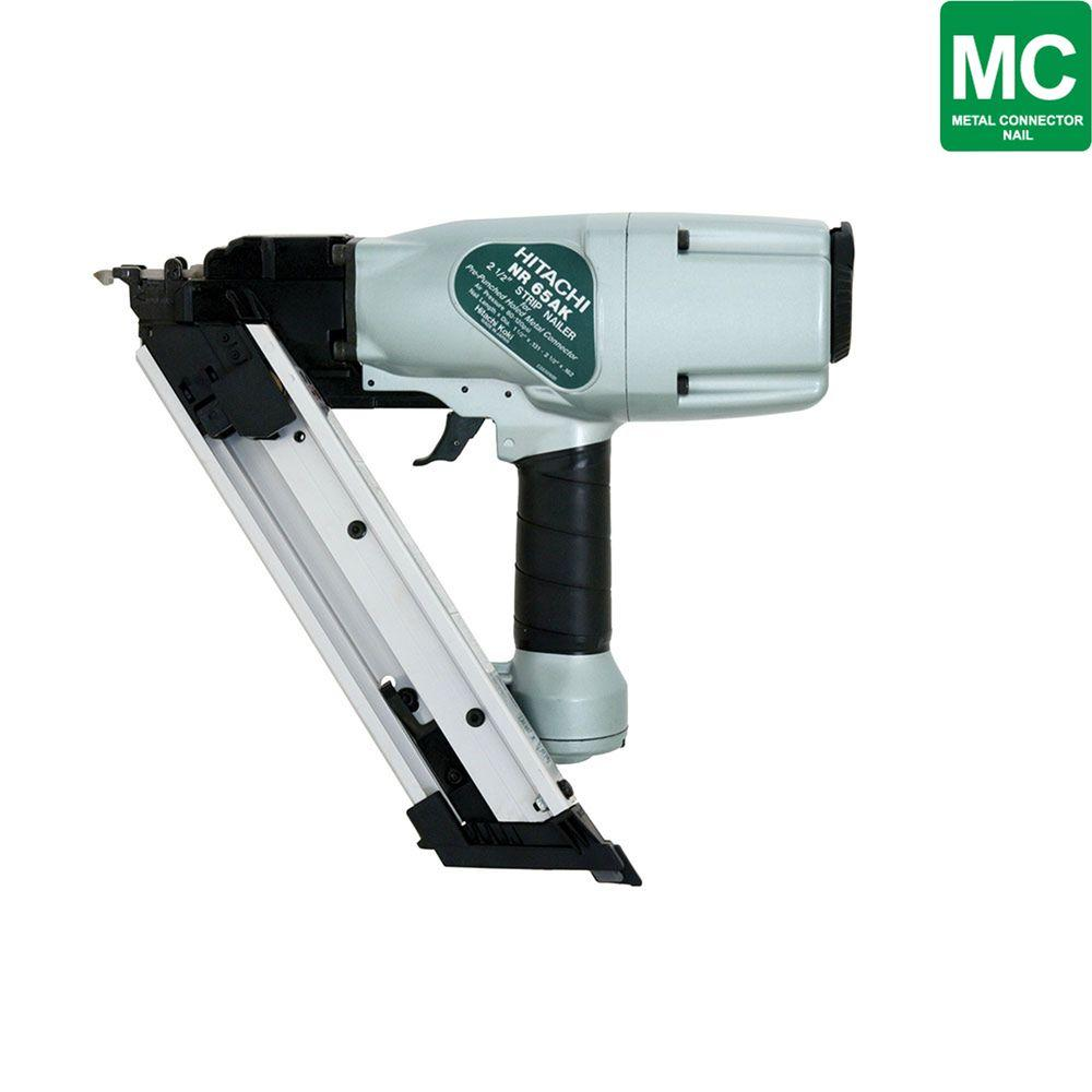 Hitachi 2-1/2 in. Stick Round Head Metal Connector Nailer for 1-1/2 in. - 2-1/2 in. 36-Degree Paper Collated Nails-DISCONTINUED