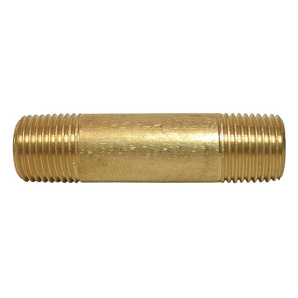 Lead-Free Brass Pipe Nipple 1/4 in. x 4 in. MIP