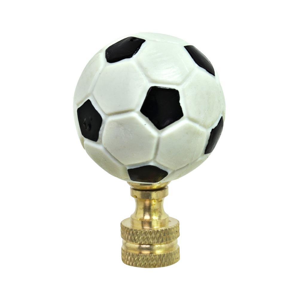 Aspen Creative Corporation 1 3 4 In Plastic Soccer Ball Finial With Solid Brass Finish 1 Pack 24022 The Home Depot