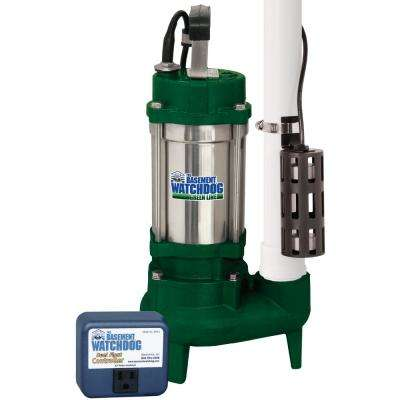 1 HP Cast Iron / Stainless Steel Submersible Sump Pump with Caged Float Switch and Controller