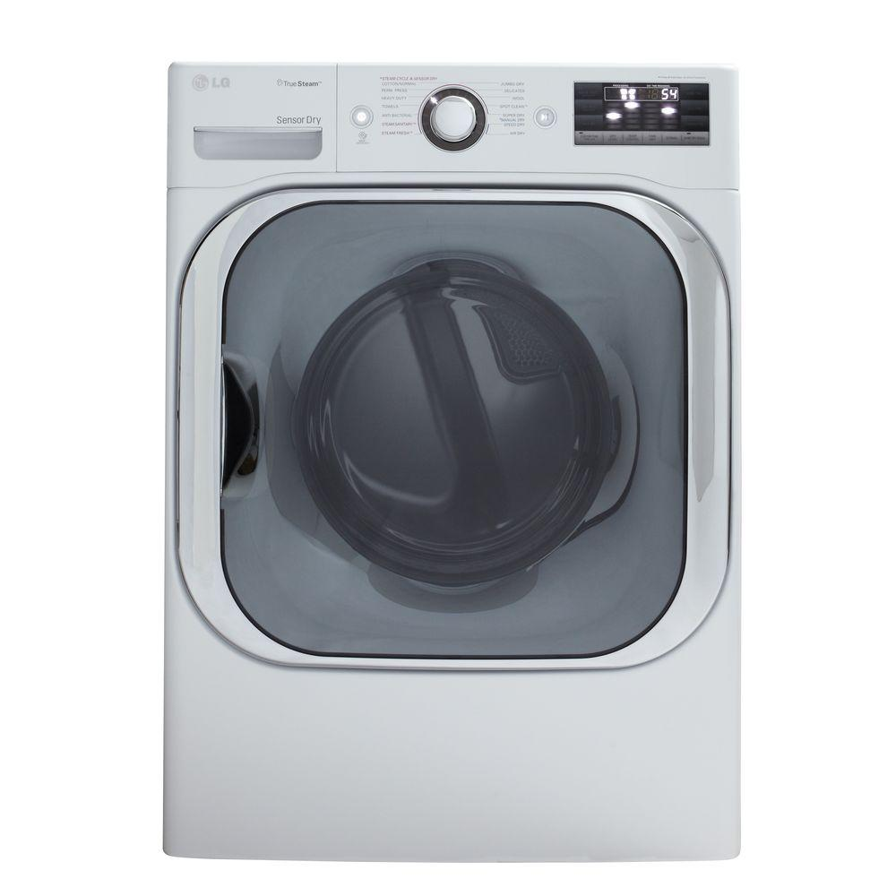LG Electronics 9.0 cu. ft. Gas Dryer with Steam in White
