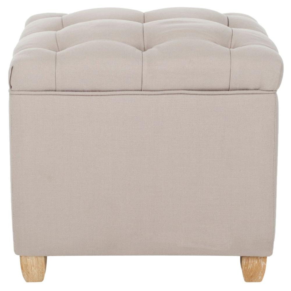 safavieh hogan taupe accent ottoman hud8208c the home depot. Black Bedroom Furniture Sets. Home Design Ideas