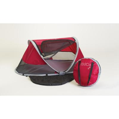 PeaPod Children's Travel Bed in Cranberry