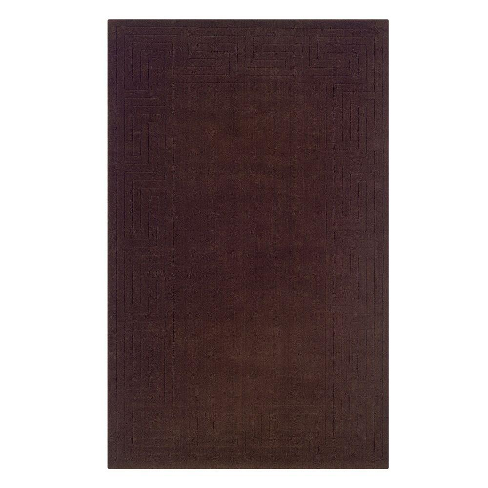 Linon home decor classic french roast 5 ft x 8 ft indoor for International home decor rugs