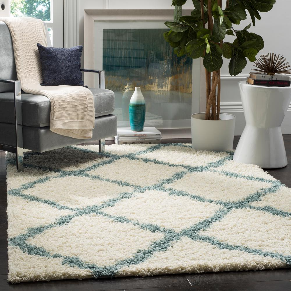 This Review Is From:Dallas Shag Ivory/Light Blue 8 Ft. X 10 Ft. Area Rug