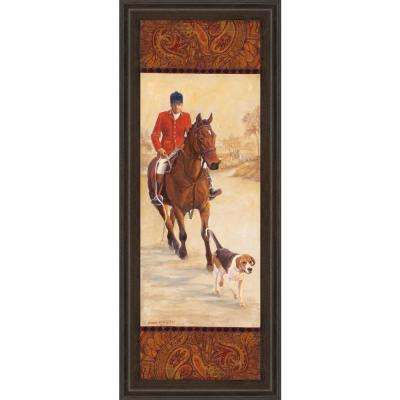 "18 in. x 42 in. ""On the Hunt I"" by Linda Wacaster Framed Printed Wall Art"