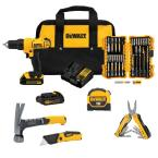 "Dewalt 20-Volt Lithium-Ion Cordless 1/2"" Drill / Driver with Batteries"