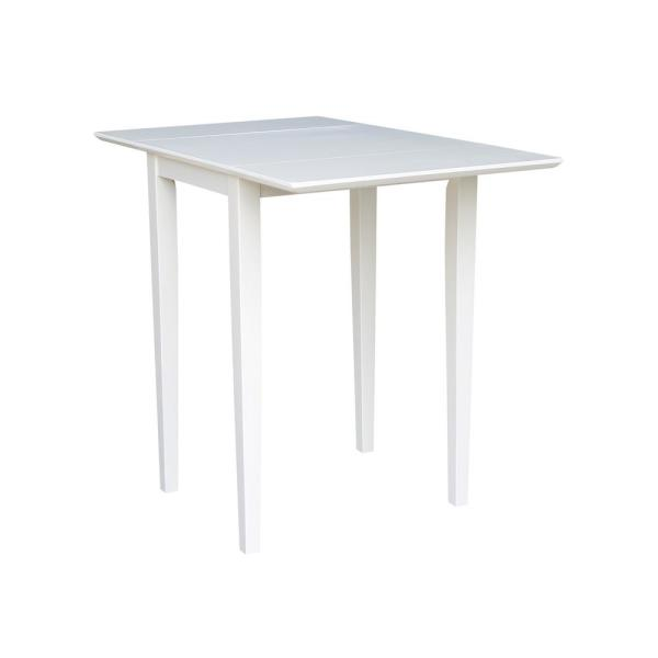 Pure White Small Drop Leaf Dining Table