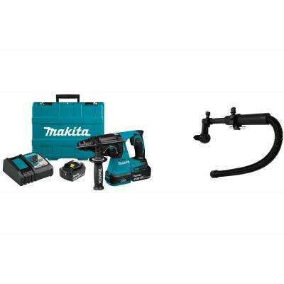 18V LXT 1 in. Brushless Cordless SDS-Plus Concrete/Masonry Rotary Hammer Drill Kit w/Bonus Dust Extraction Attachment