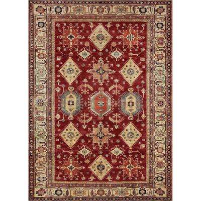 Washable Noor Ruby 3 ft. x 5 ft. Stain Resistant Area Rug