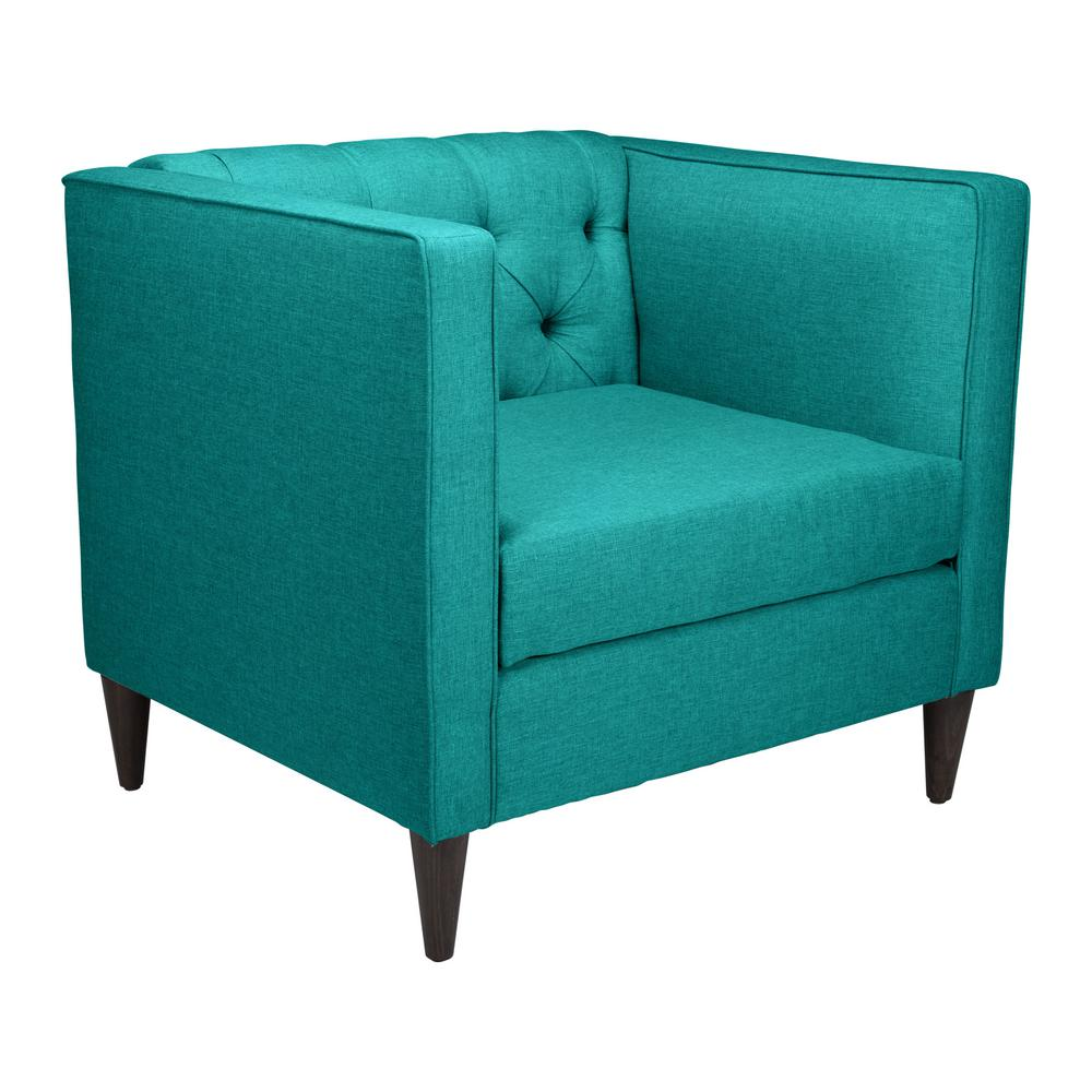 Zuo Grant Teal Arm Chair 101205 The Home Depot