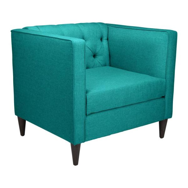 ZUO Grant Teal Arm Chair