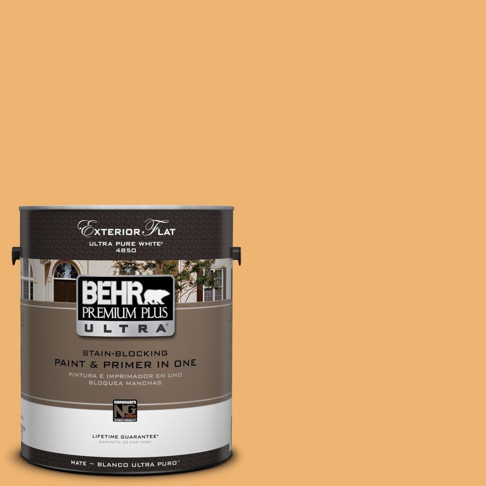 BEHR Premium Plus Ultra 1-Gal. #UL150-14 Sunburst Flat Exterior Paint