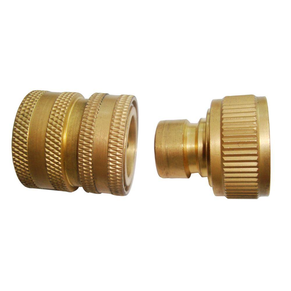 Beast Brass Garden Hose Quick Connect For Pressure Washer Sp01309 The Home Depot